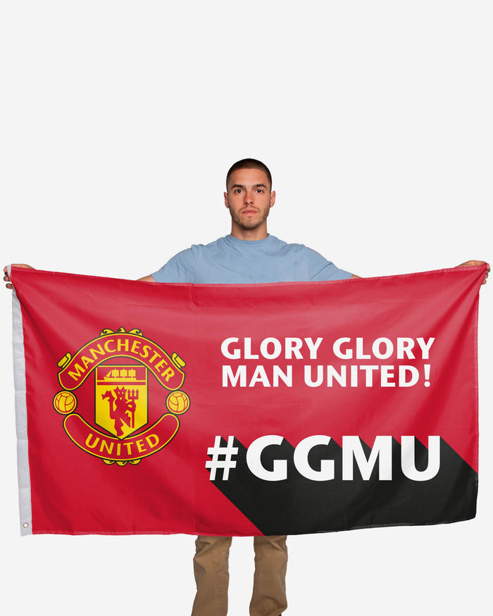 Manchester United FC Motivational Slogan Flag FOCO - FOCO.com | UK & IRE