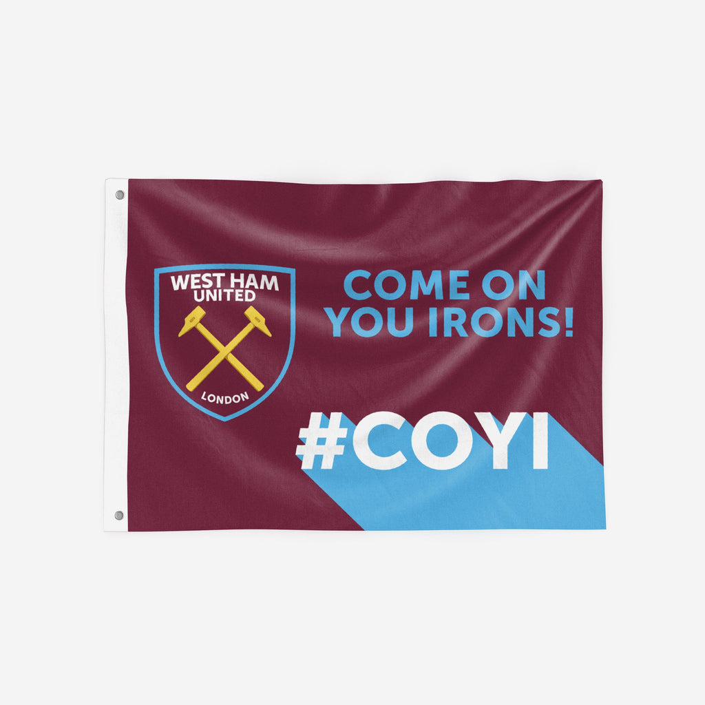 West Ham United FC Motivational Slogan Flag FOCO - FOCO.com | UK & IRE