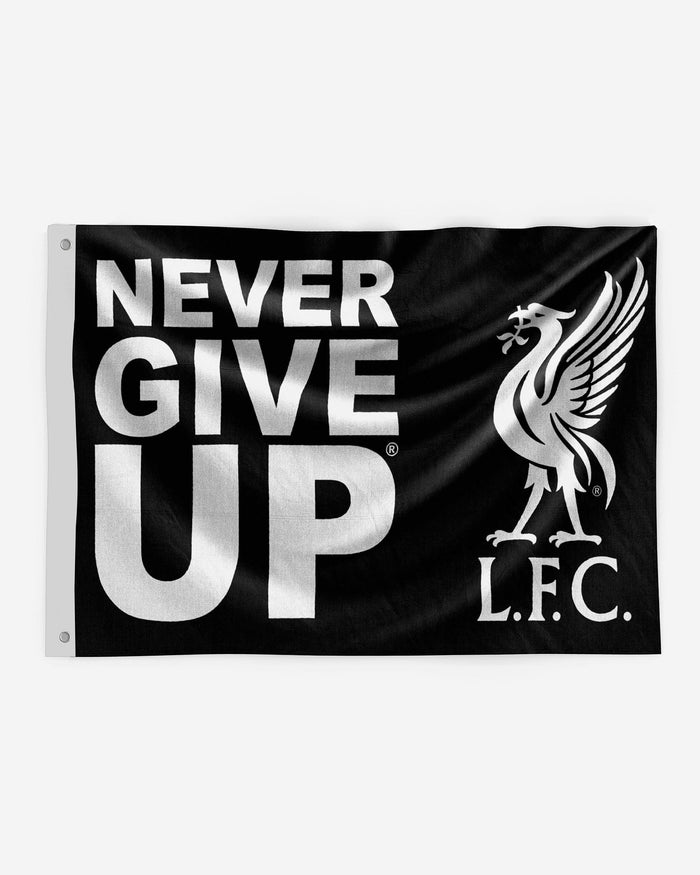 Liverpool FC Never Give Up Black 5 x 3 Flag FOCO - FOCO.com | UK & IRE