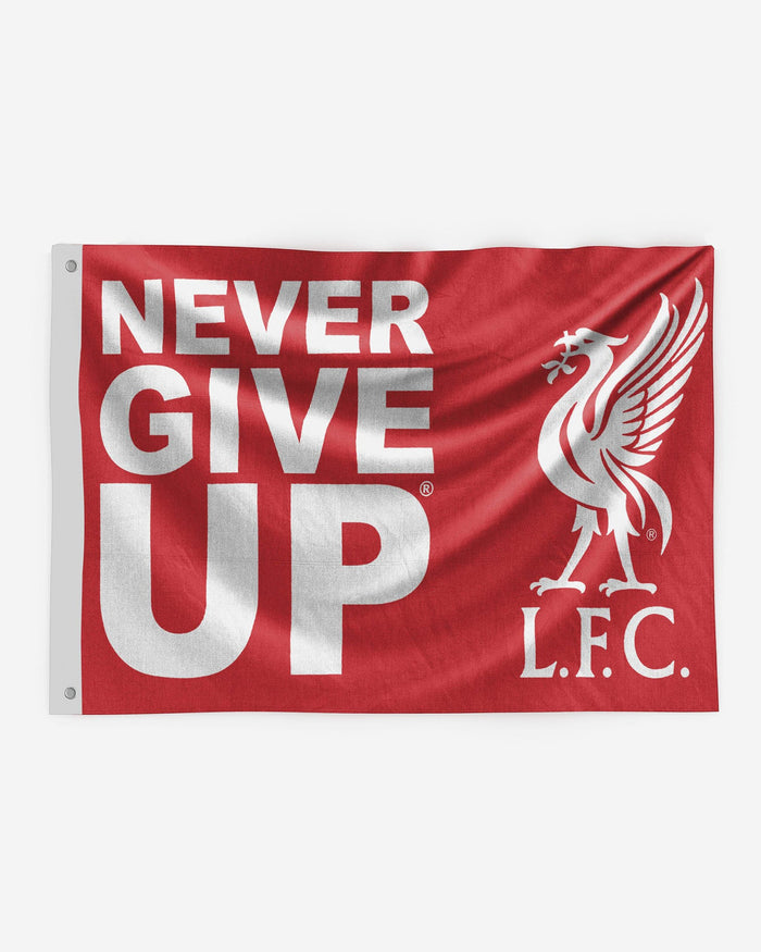 Liverpool FC Never Give Up Red 5 x 3 Flag FOCO - FOCO.com | UK & IRE