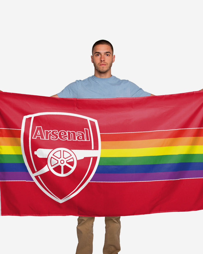 Arsenal FC Rainbow 5 x 3 Flag FOCO - FOCO.com | UK & IRE