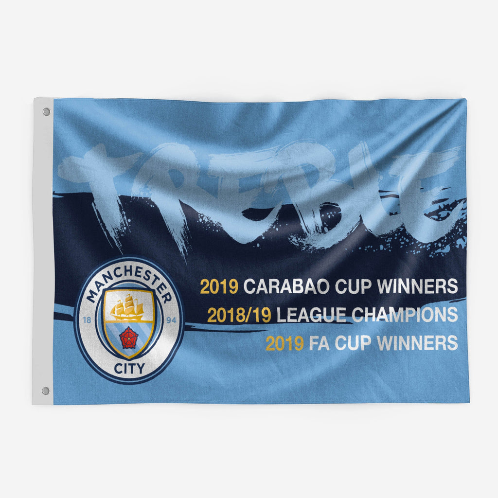 Manchester City FC 2018-19 Treble Winners 5 x 3 Flag FOCO - FOCO.com | UK & IRE