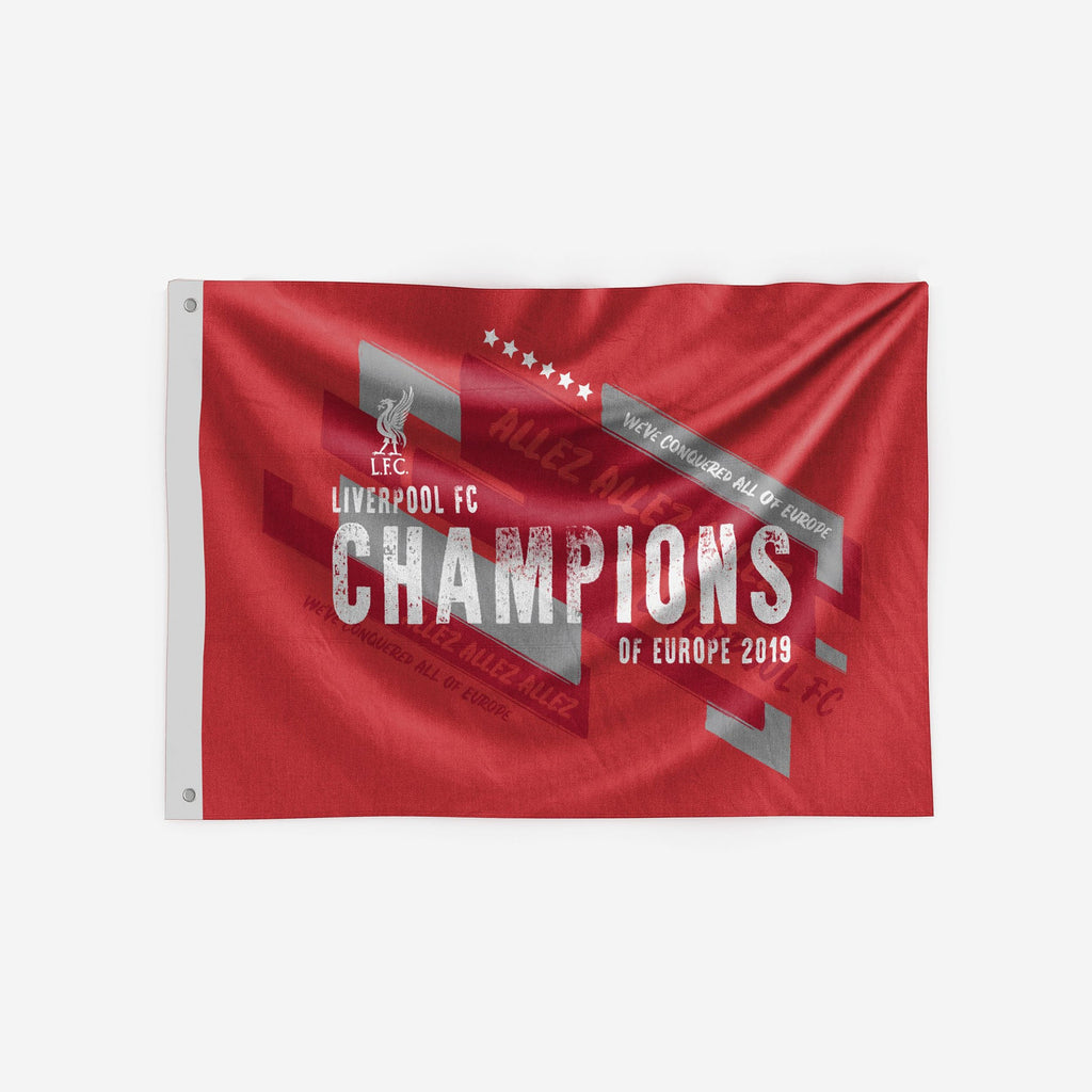 Liverpool FC 2018-19 Champions 5 x 3 Red Flag FOCO - FOCO.com | UK & IRE