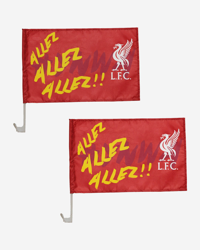 Liverpool FC Allez Allez 2 Pack Car Flag FOCO - FOCO.com | UK & IRE