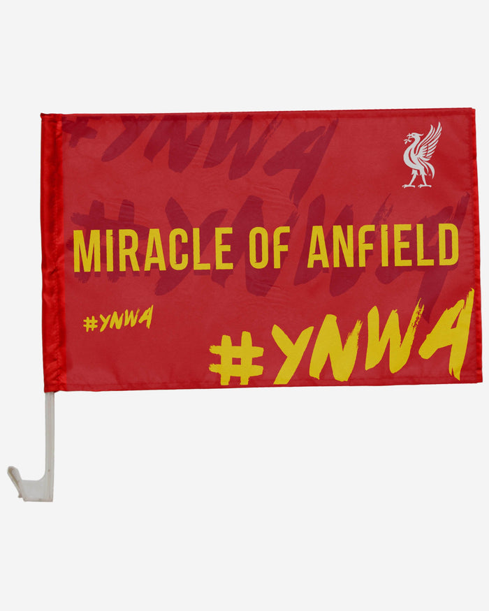 Liverpool FC Miracle Of Anfield 2 Pack Car Flag FOCO - FOCO.com | UK & IRE