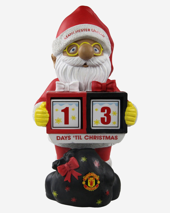 Manchester United FC Christmas Countdown Gnome FOCO - FOCO.com | UK & IRE