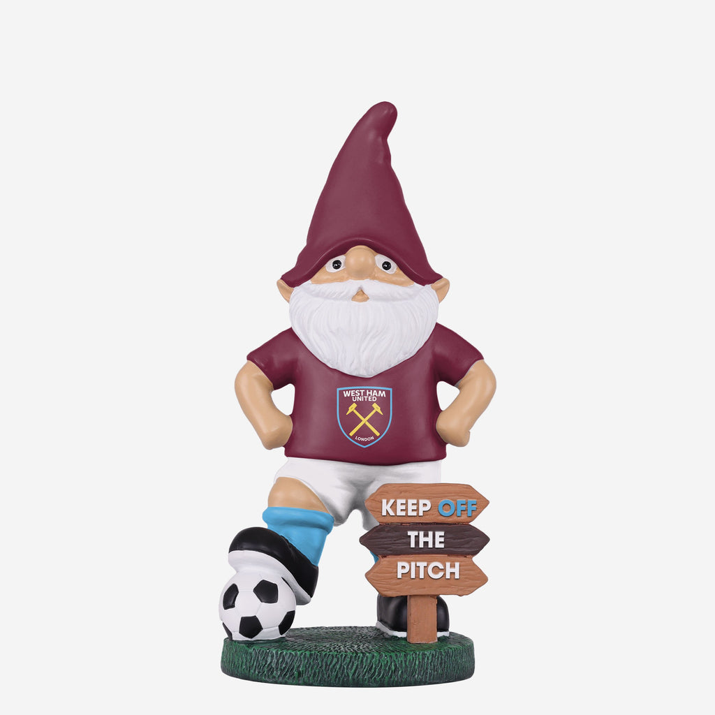 West Ham United FC Keep Off The Pitch Gnome FOCO - FOCO.com | UK & IRE