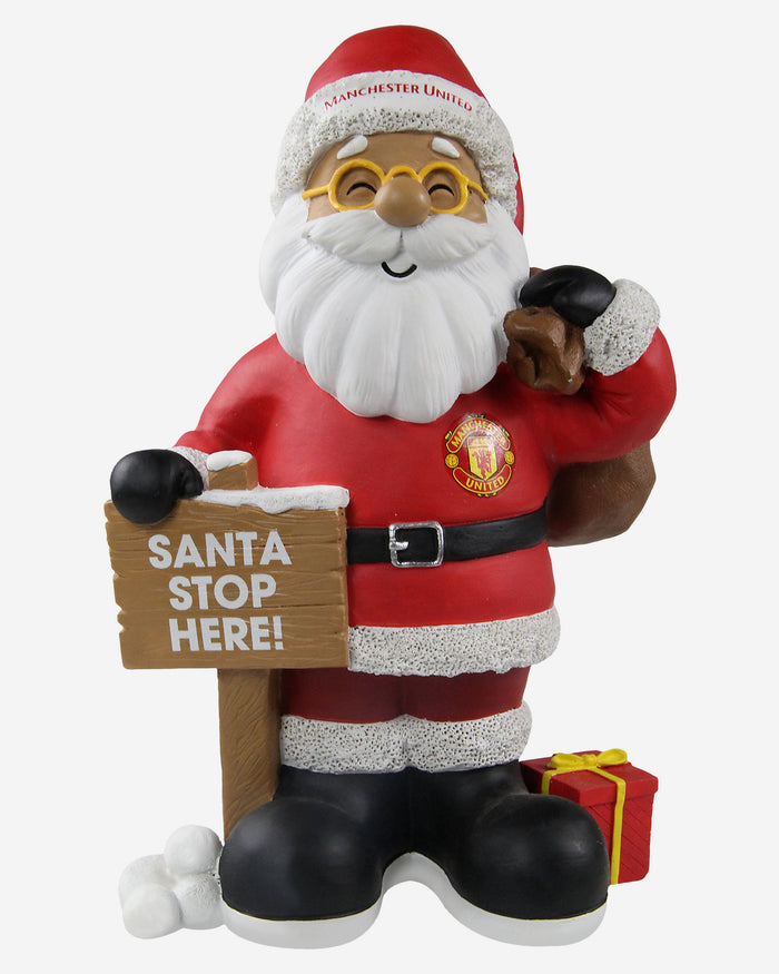 Manchester United FC Resin Santa Gnome FOCO - FOCO.com | UK & IRE