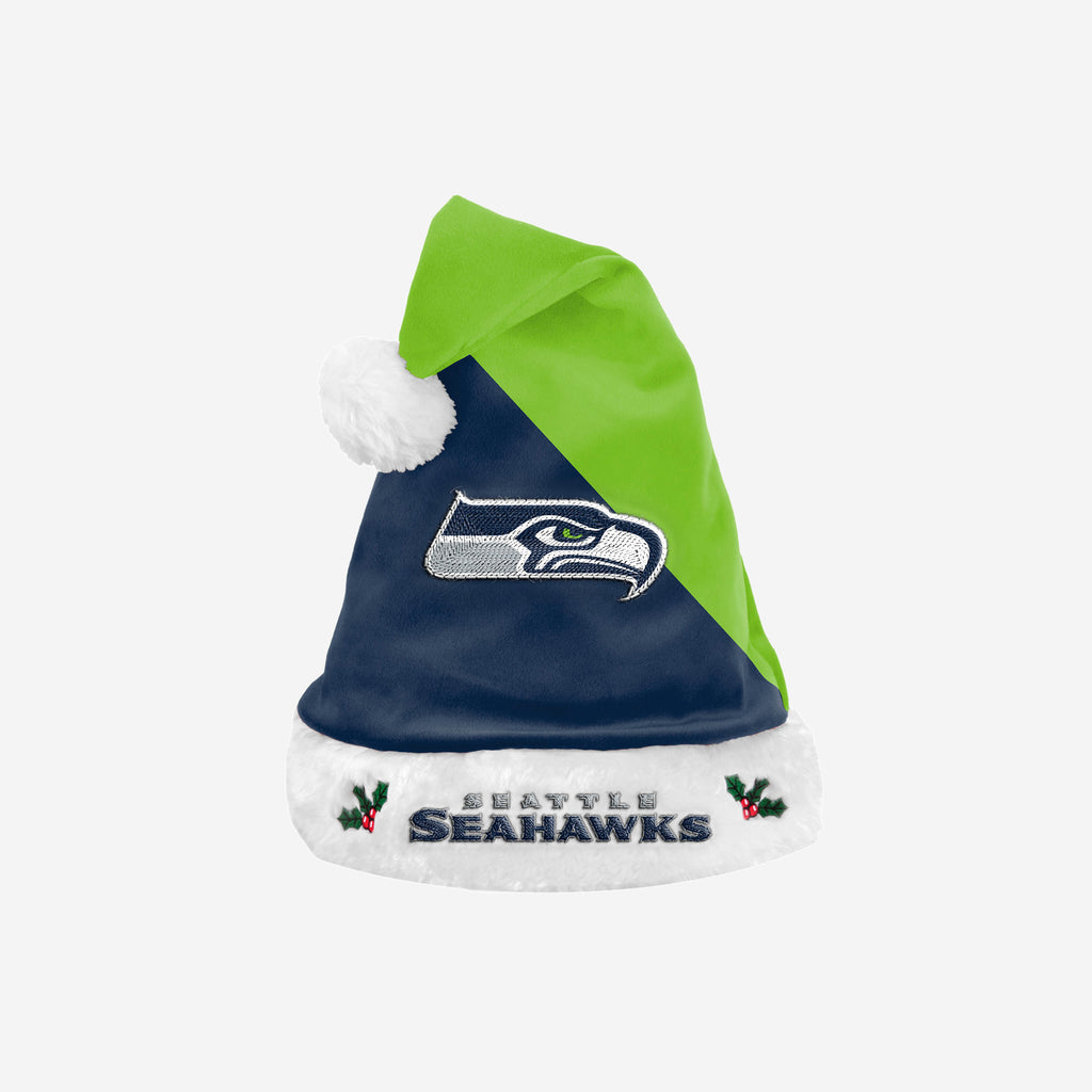 Seattle Seahawks Basic Santa Hat FOCO - FOCO.com | UK & IRE