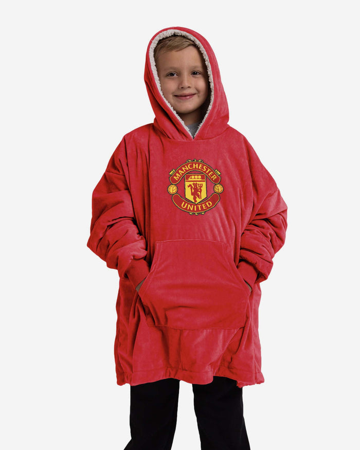 Manchester United FC Reversible Big Logo Youth Hoodeez FOCO - FOCO.com | UK & IRE