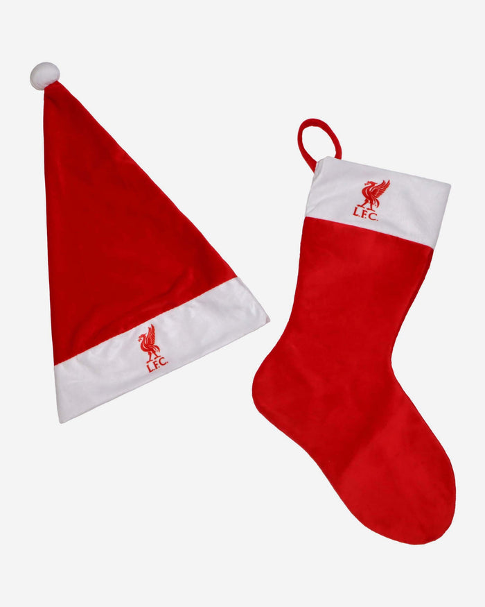 Liverpool FC Santa Hat & Stocking Set FOCO - FOCO.com | UK & IRE