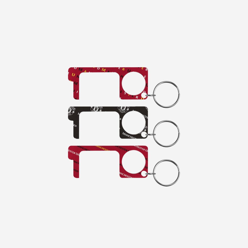 Manchester United FC 3 Pack No Touch Keyring FOCO - FOCO.com | UK & IRE