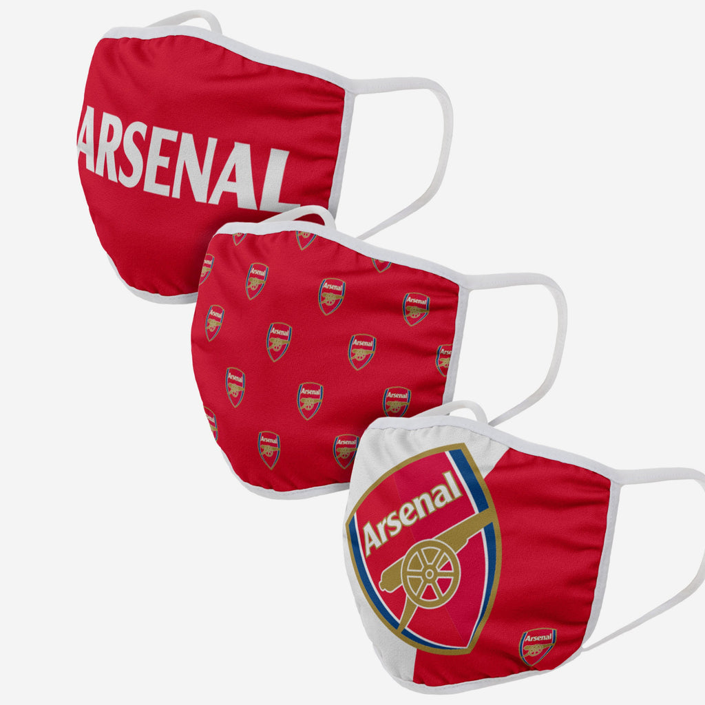 Arsenal FC 3 Pack Face Cover FOCO - FOCO.com | UK & IRE