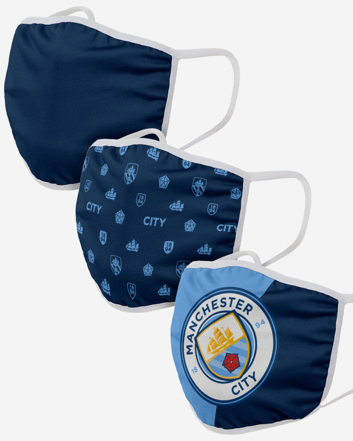 Manchester City FC 3 Pack Face Cover FOCO Adult - FOCO.com | UK & IRE