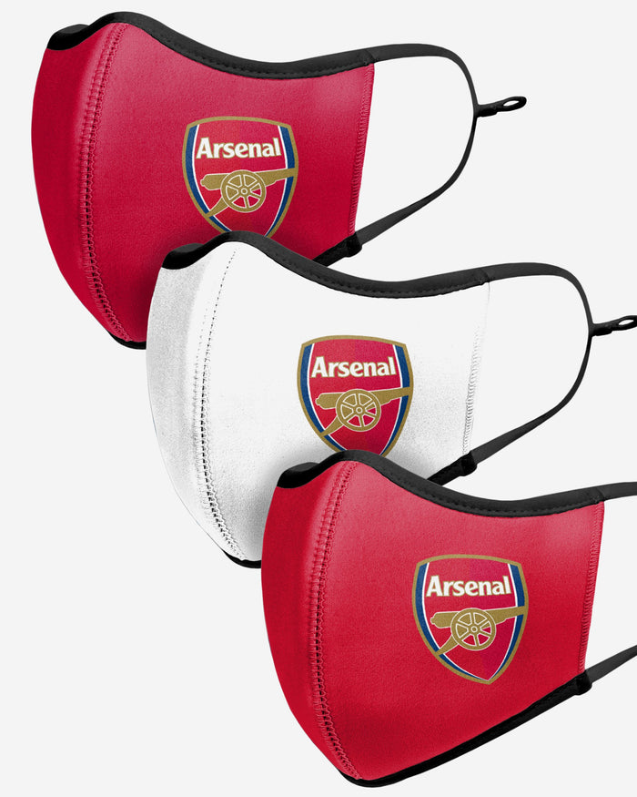 Arsenal FC Sport 3 Pack Face Cover FOCO - FOCO.com | UK & IRE