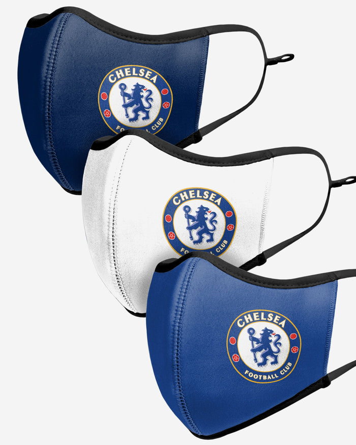 Chelsea FC Sport 3 Pack Face Cover FOCO - FOCO.com | UK & IRE