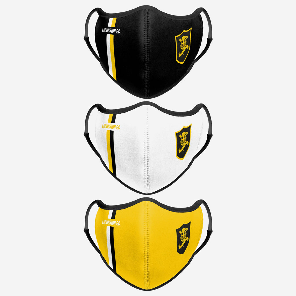 Livingston FC Sport 3 Pack Face Cover FOCO - FOCO.com | UK & IRE