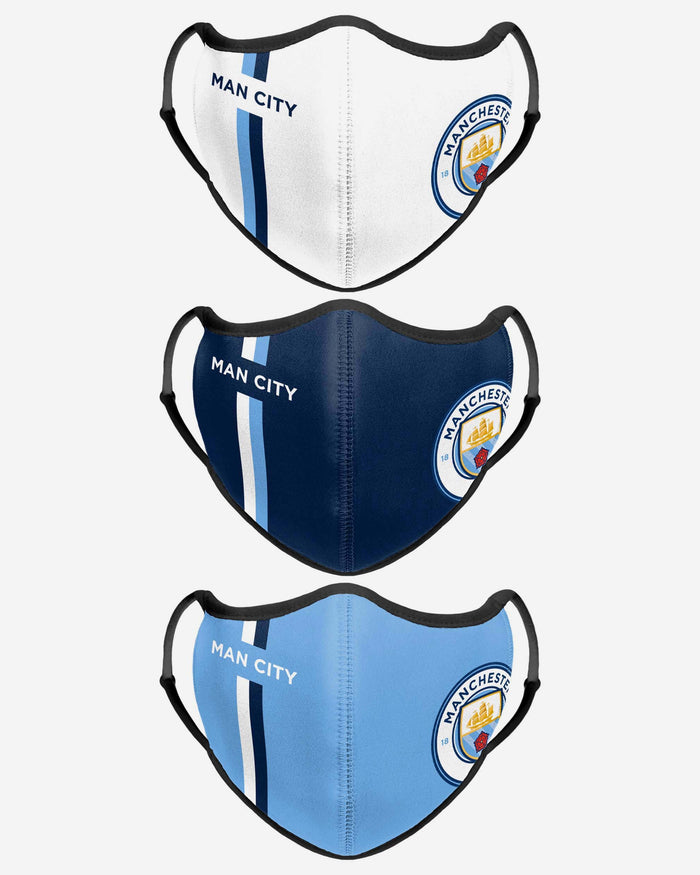 Manchester City FC Sport 3 Pack Face Cover FOCO - FOCO.com | UK & IRE