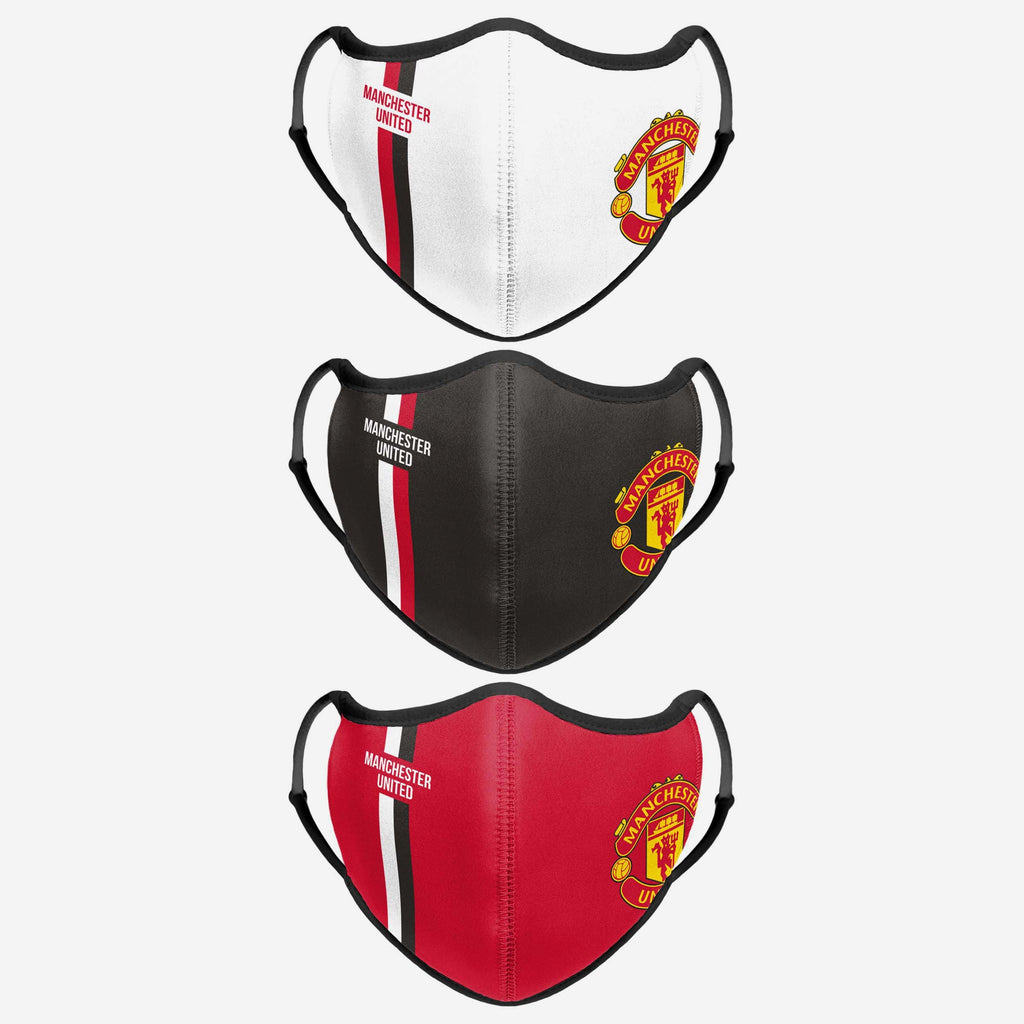 Manchester United FC Sport 3 Pack Face Cover FOCO - FOCO.com | UK & IRE