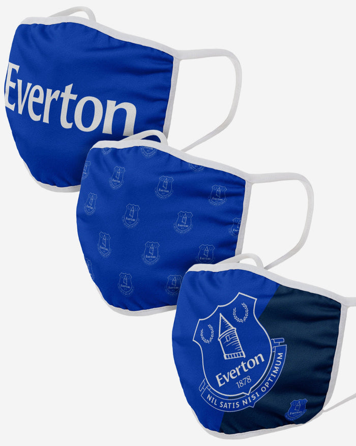 Everton FC 3 Pack Face Cover FOCO Adult - FOCO.com | UK & IRE