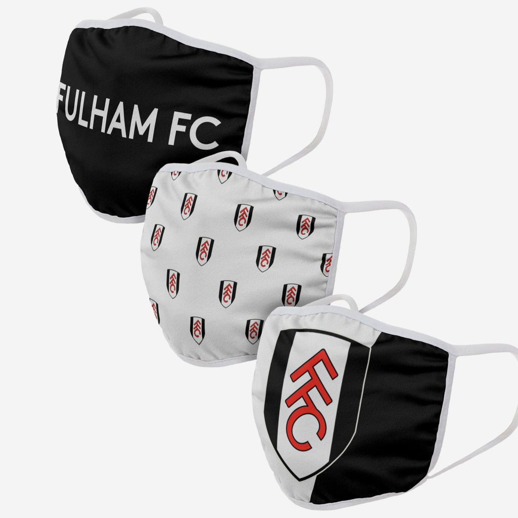 Fulham FC 3 Pack Face Cover FOCO - FOCO.com | UK & IRE