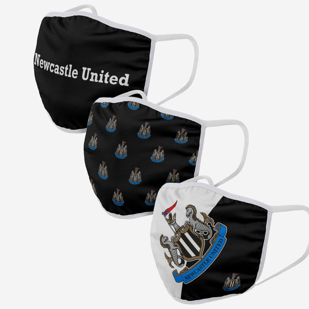 Newcastle United FC 3 Pack Face Cover FOCO Adult - FOCO.com | UK & IRE