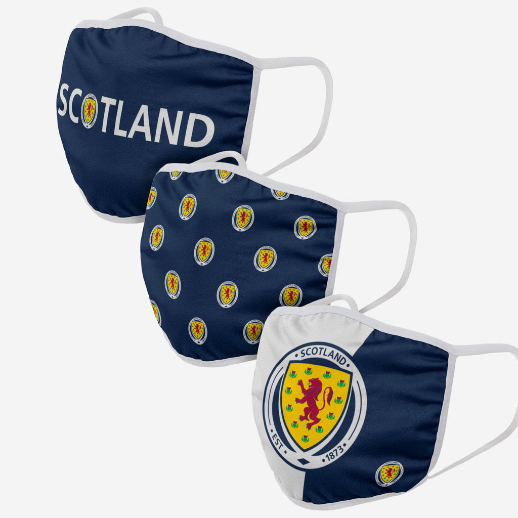 Scotland 3 Pack Face Cover FOCO Adult - FOCO.com | UK & IRE