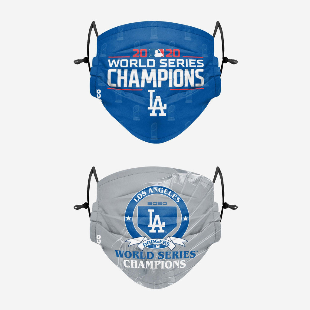 Los Angeles Dodgers 2020 World Series Champions Adjustable 2 Pack Face Cover FOCO - FOCO.com | UK & IRE