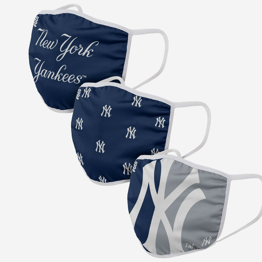 New York Yankees 3 Pack Face Cover FOCO - FOCO.com | UK & IRE