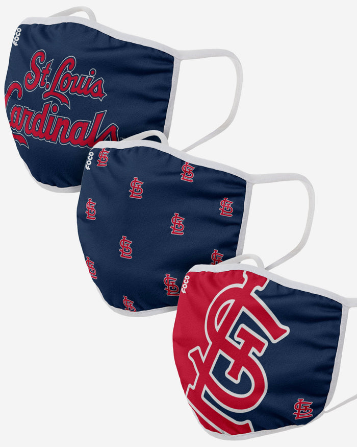 St Louis Cardinals 3 Pack Face Cover FOCO - FOCO.com | UK & IRE