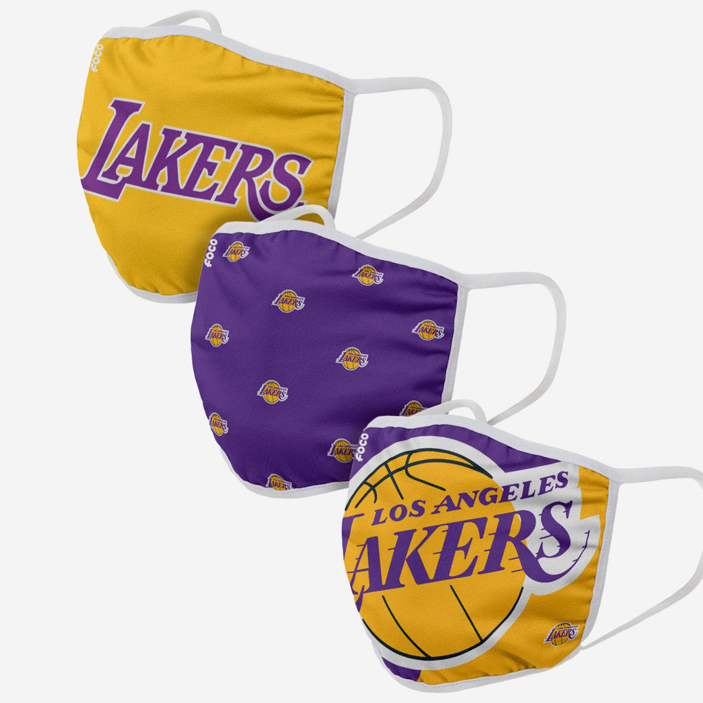Los Angeles Lakers 3 Pack Face Cover FOCO - FOCO.com | UK & IRE