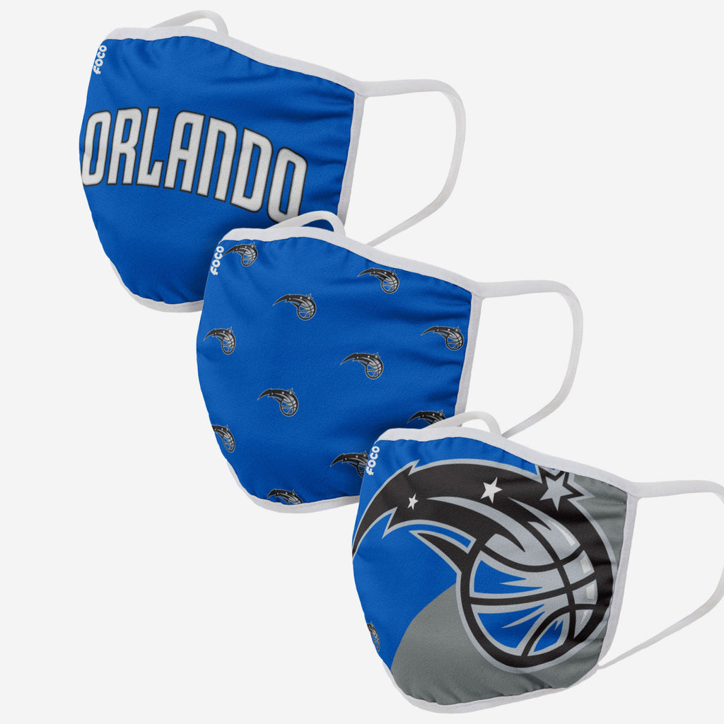 Orlando Magic 3 Pack Face Cover FOCO - FOCO.com | UK & IRE