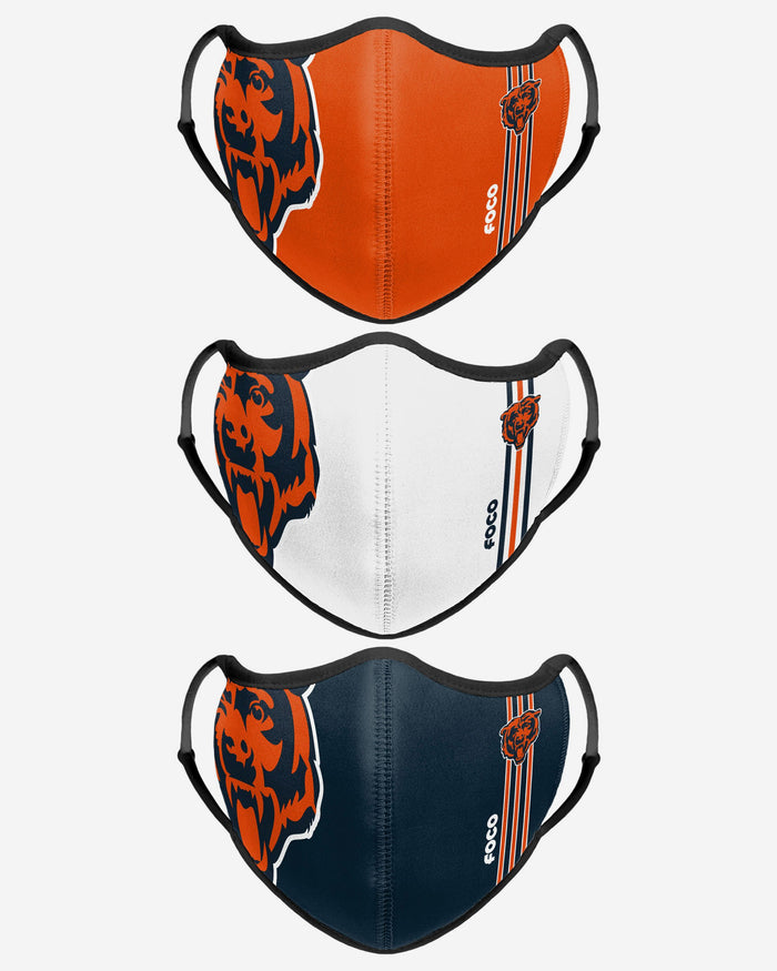Chicago Bears Sport 3 Pack Face Cover FOCO - FOCO.com | UK & IRE