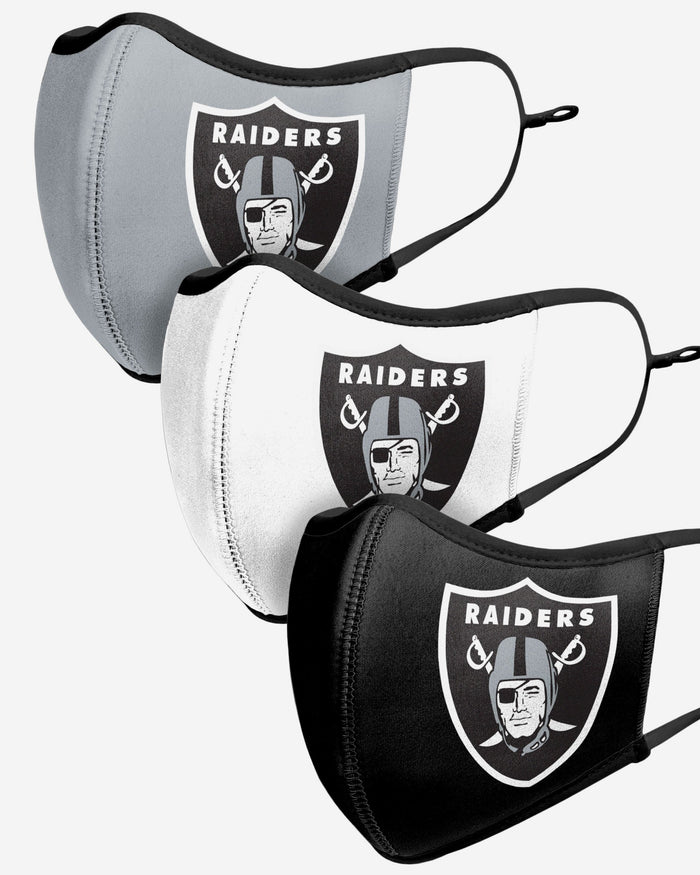 Las Vegas Raiders Sport 3 Pack Face Cover FOCO - FOCO.com | UK & IRE