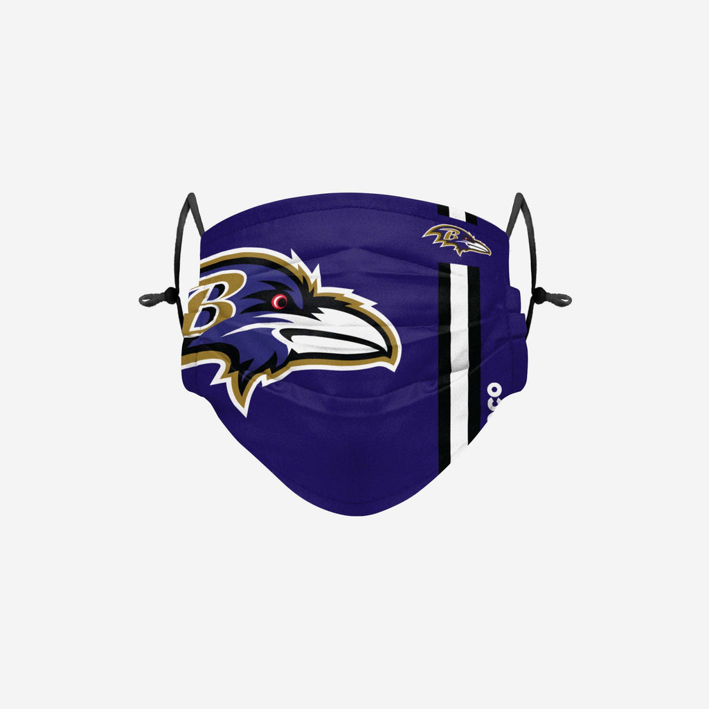Baltimore Ravens On-Field Sideline Logo Face Cover FOCO Adult - FOCO.com | UK & IRE