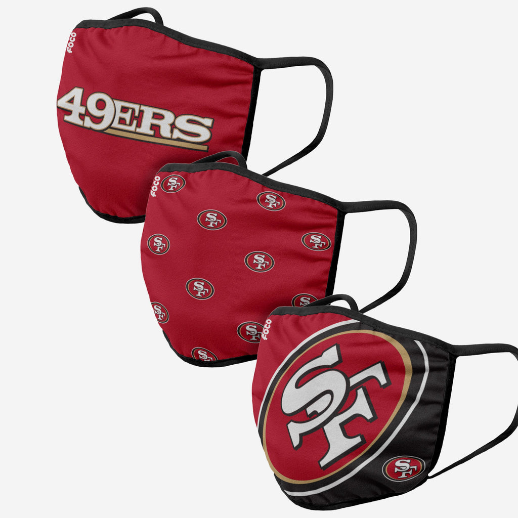 San Francisco 49ers 3 Pack Face Cover FOCO - FOCO.com | UK & IRE