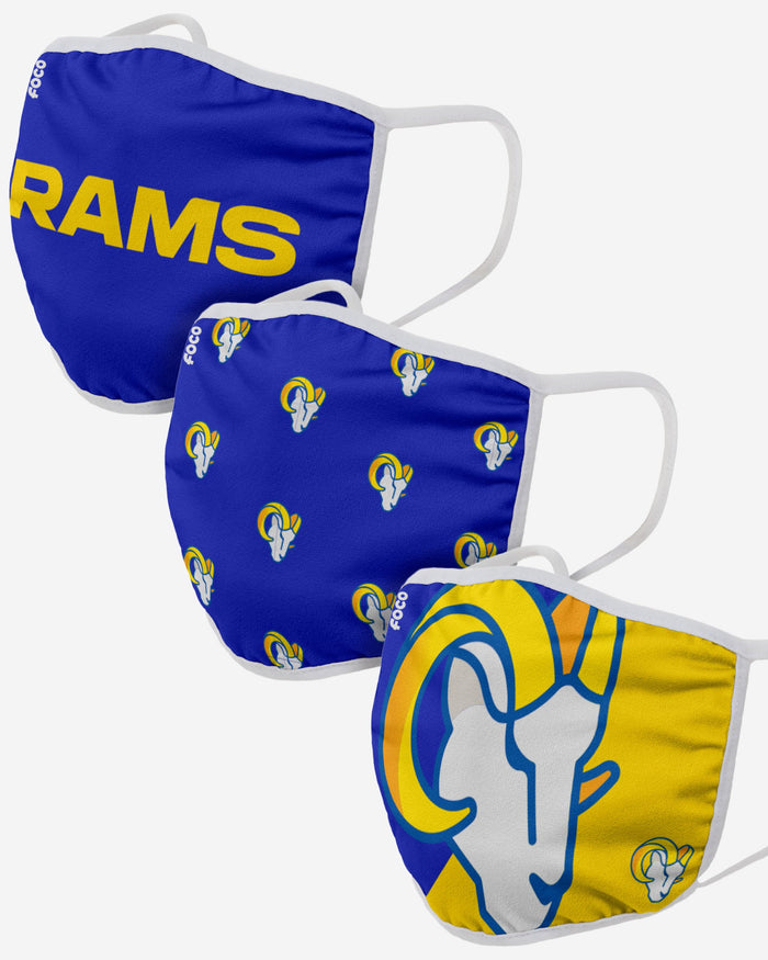 Los Angeles Rams 3 Pack Face Cover FOCO - FOCO.com | UK & IRE