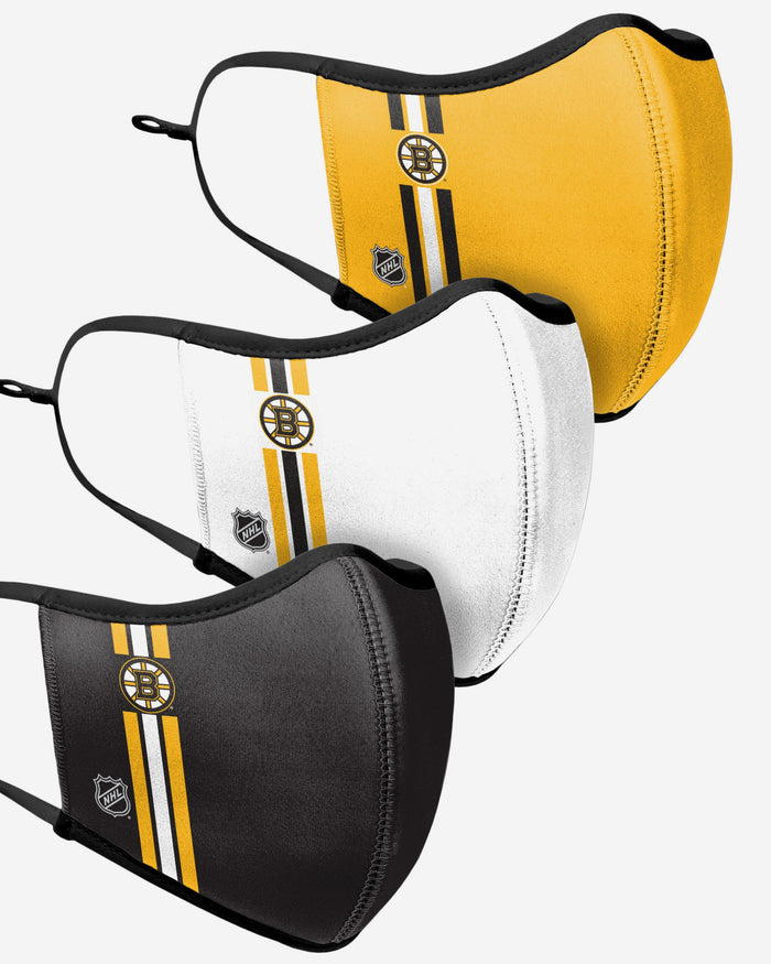 Boston Bruins Sport 3 Pack Face Cover FOCO - FOCO.com | UK & IRE