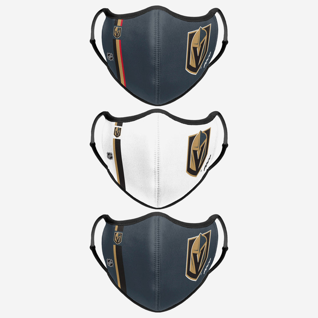 Vegas Golden Knights Sport 3 Pack Face Cover FOCO - FOCO.com | UK & IRE