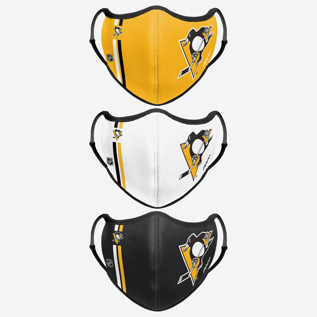 Pittsburgh Penguins Sport 3 Pack Face Cover FOCO - FOCO.com | UK & IRE