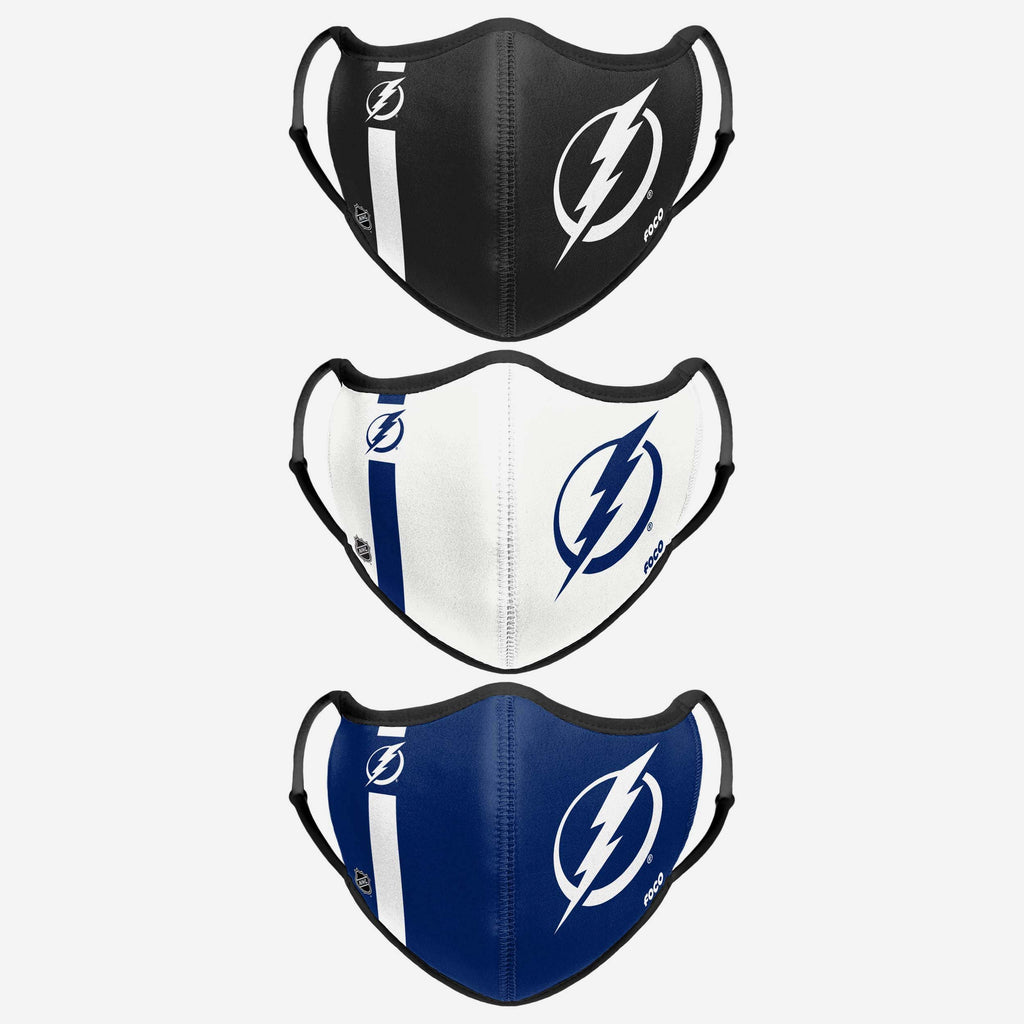 Tampa Bay Lightning Sport 3 Pack Face Cover FOCO - FOCO.com | UK & IRE