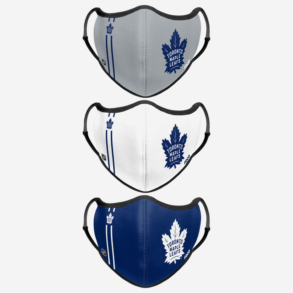 Toronto Maple Leafs Sport 3 Pack Face Cover FOCO - FOCO.com | UK & IRE