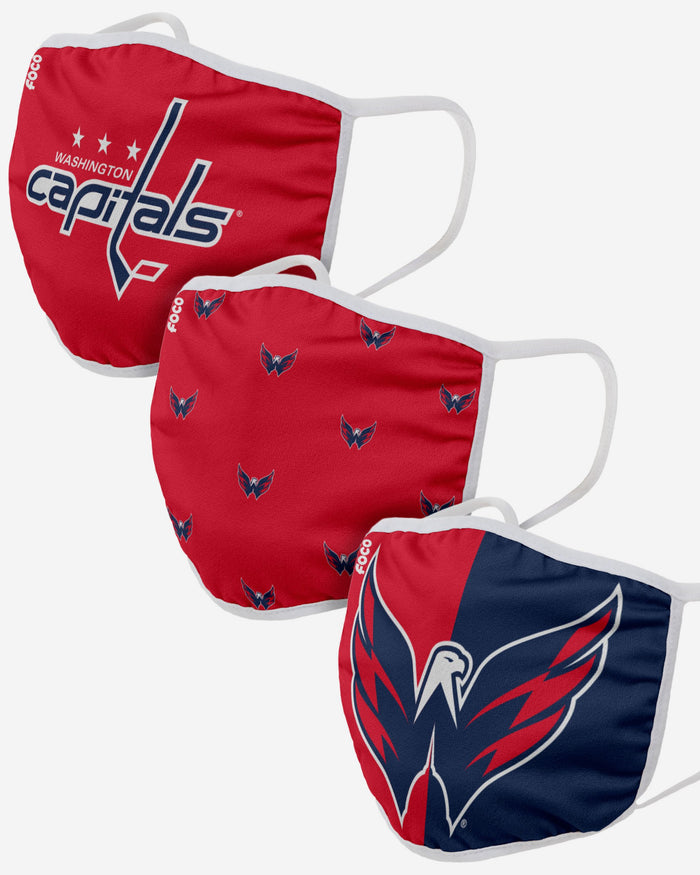 Washington Capitals 3 Pack Face Cover FOCO - FOCO.com | UK & IRE
