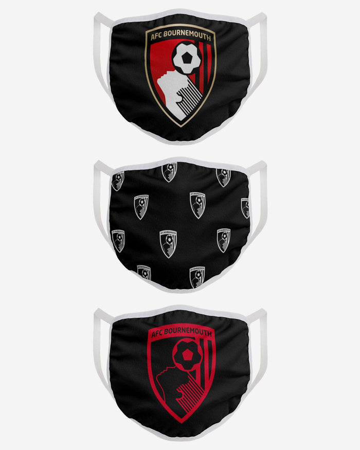 AFC Bournemouth FC 3 Pack Face Cover FOCO - FOCO.com | UK & IRE