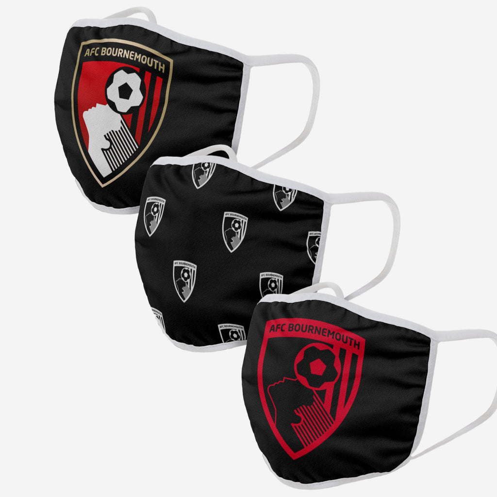 AFC Bournemouth 3 Pack Face Cover FOCO - FOCO.com | UK & IRE