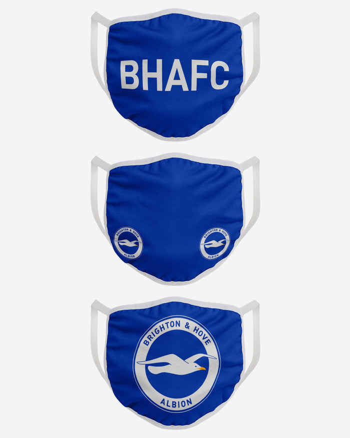 Brighton & Hove Albion FC 3 Pack Face Cover FOCO - FOCO.com | UK & IRE