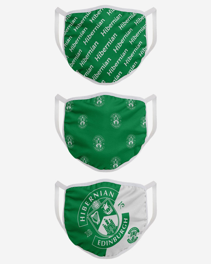 Hibernian FC 3 Pack Face Cover FOCO - FOCO.com | UK & IRE