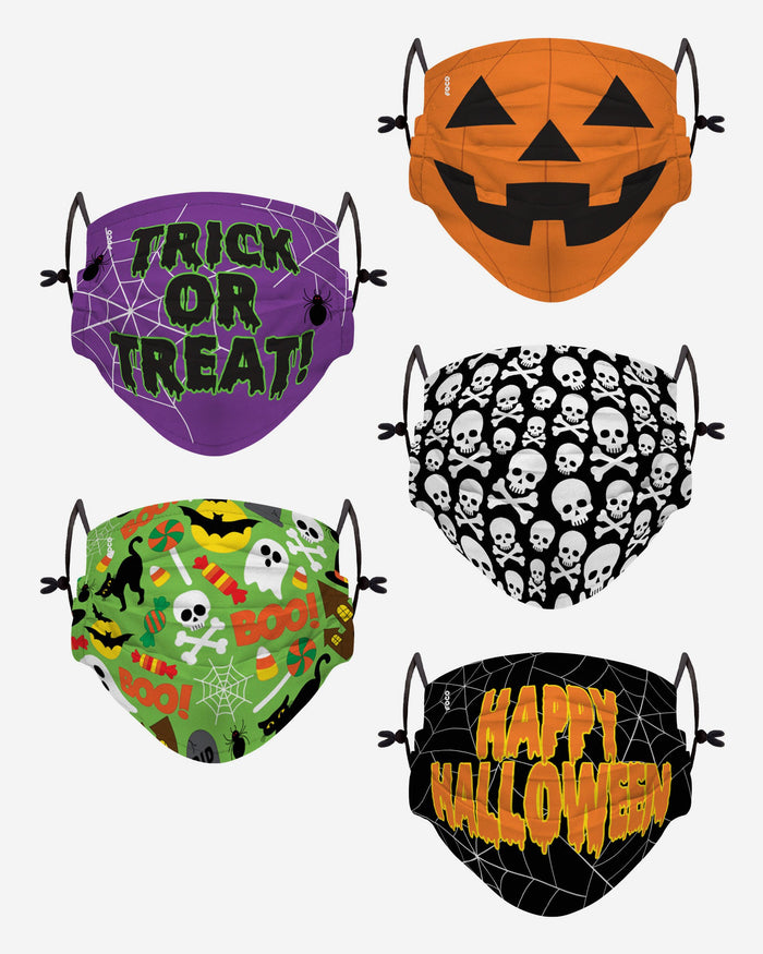 Halloween Pack Youth Adjustable 5 Pack Face Cover FOCO - FOCO.com | UK & IRE