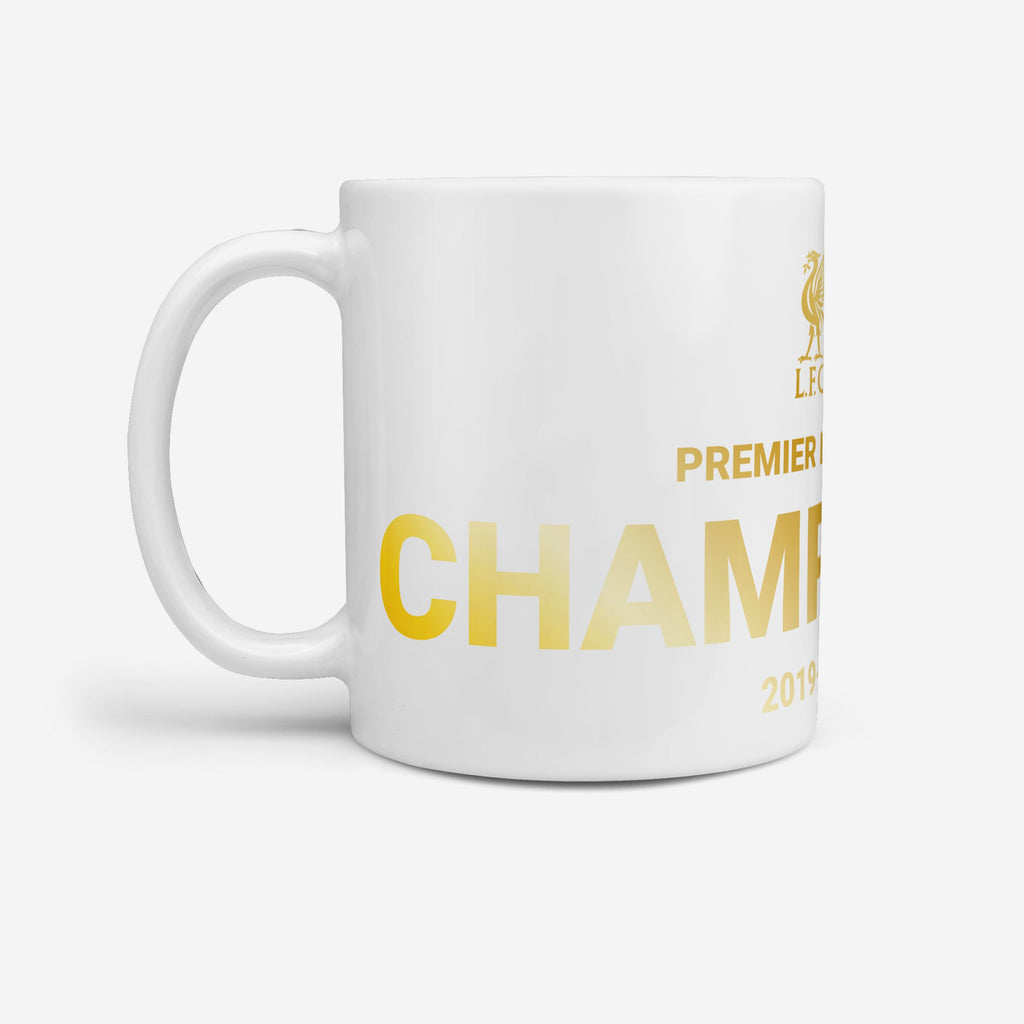 Liverpool FC Champions Gold On White Jumbo Mug FOCO - FOCO.com | UK & IRE