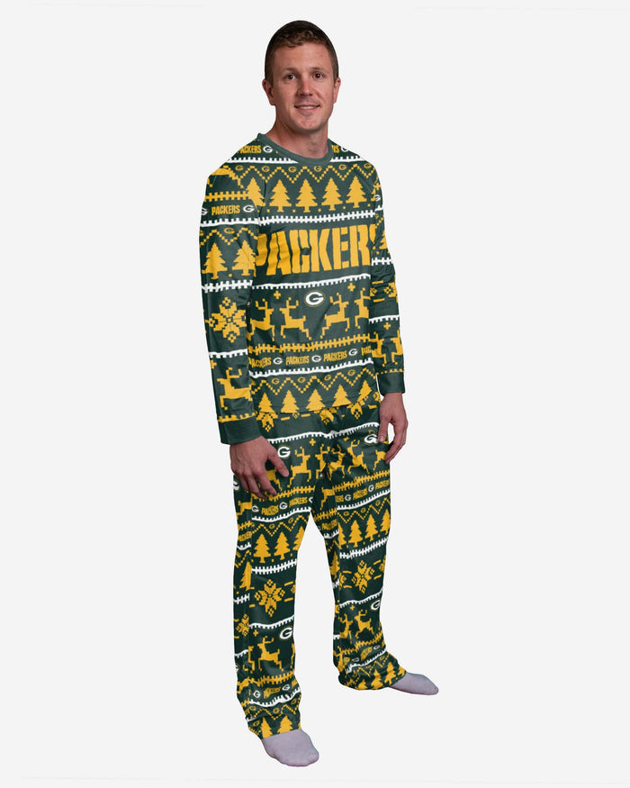 Green Bay Packers Family Holiday Pyjamas FOCO M - FOCO.com | UK & IRE